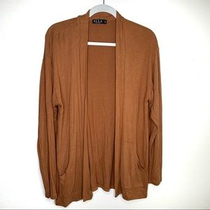 ECLA | Open Front Cardigan | Camel | With Pockets